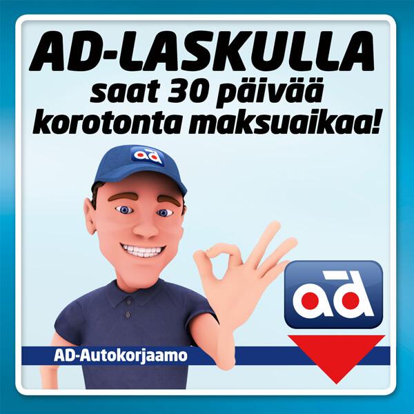AD laskulla 30 päivää maksuaikaa