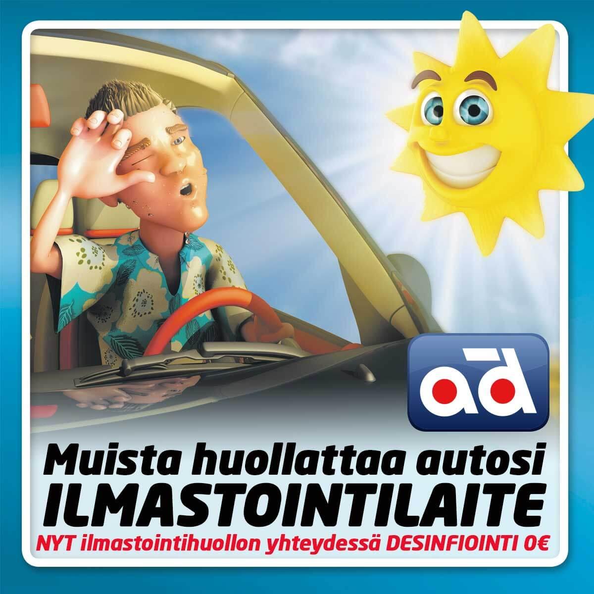Ilmastointi huolto Kouvola autokorjaamo
